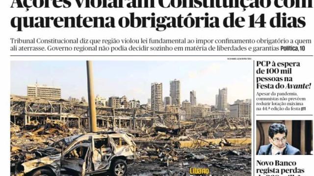 Hoje é notícia: Açores violaram Constituição. Cem câmaras multadas