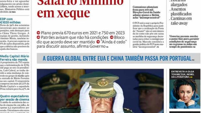 Hoje é notícia: Subida do salário mínimo em xeque; Rui Pinto sob proteção