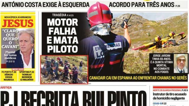 Hoje é notícia: Rui Pinto vai ser investigador; Resgate no Gerês demorou