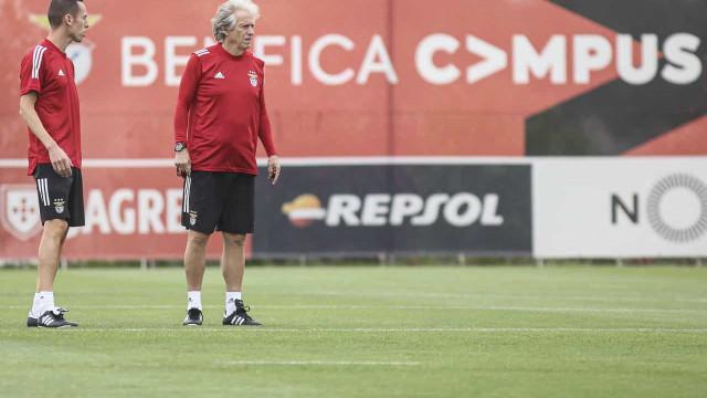 As imagens do primeiro treino de Jorge Jesus no Benfica
