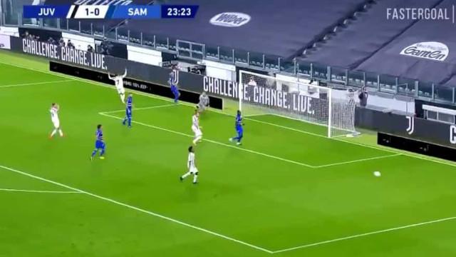 Trave negou o primeiro grande golo de Ronaldo na Serie A em 2020/21