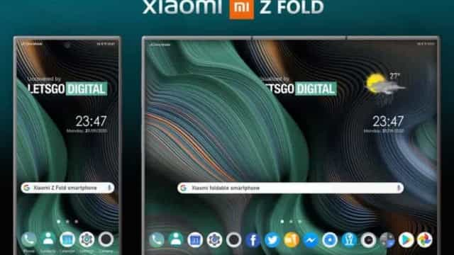 Xiaomi patenteou smartphone dobrável com duas dobradiças