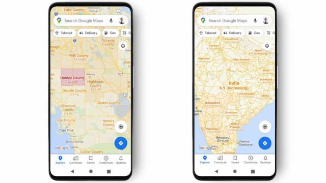 Covid-19. Google Maps vai ajudá-lo a evitar zonas com surtos