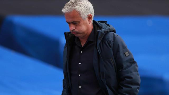 Mourinho começa a perder a paciência com o Tottenham, garantem ingleses