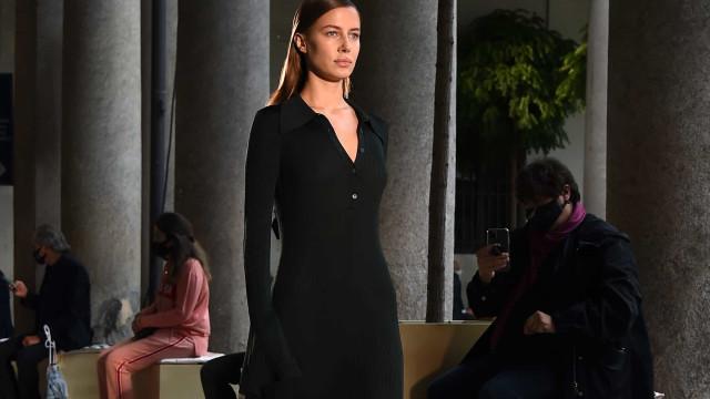Namorada de Brad Pitt destaca-se na passerelle da Milan Fashion Week