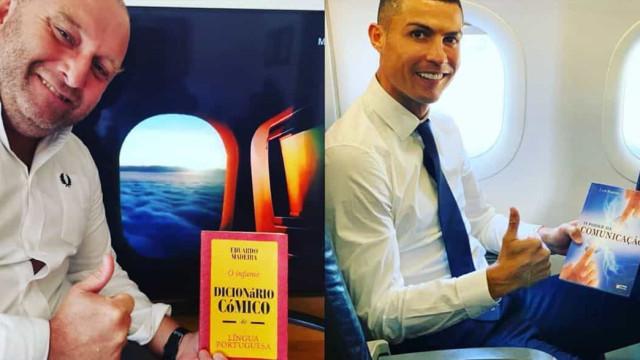 Eduardo Madeira brinca com foto de Cristiano Ronaldo