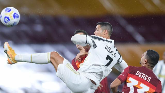 Só um jogador supera Cristiano Ronaldo em golos marcados em 2020