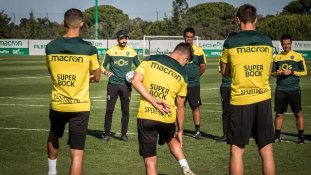 Rúben Amorim está curado da Covid-19 e orientou treino em Alcochete