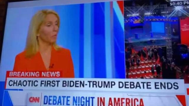 Jornalista da CNN usa palavrão para definir debate entre Trump e Biden