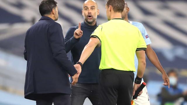 Conceição e Guardiola em alta tensão. As imagens do City-FC Porto