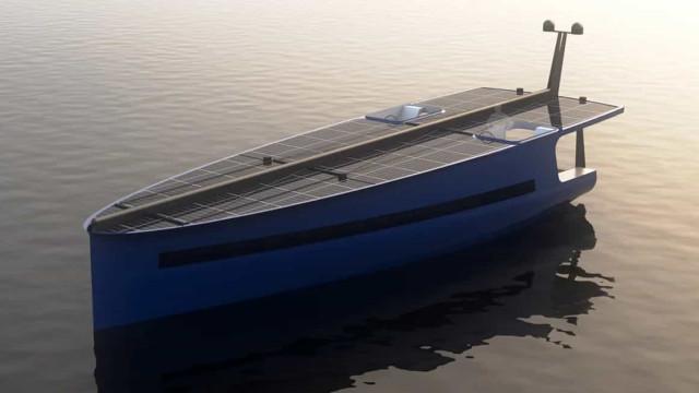 'Concept' de iate solar desenvolvido por arquiteto português