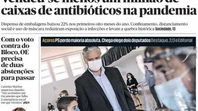 Hoje é notícia: Menos antibióticos vendidos; Onda de assaltos a carros