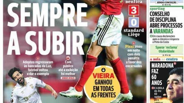 Por cá: Só deu Benfica e Braga tem mais uma razão para sonhar