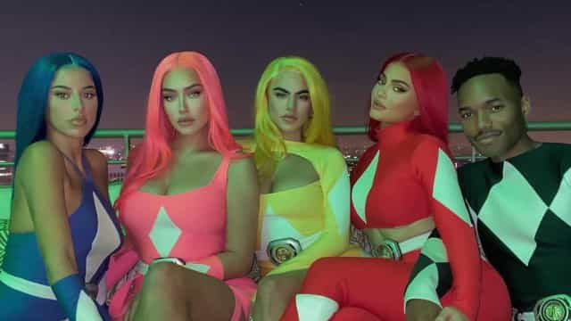 Halloween: Kylie Jenner e amigos vestem-se de Power Rangers