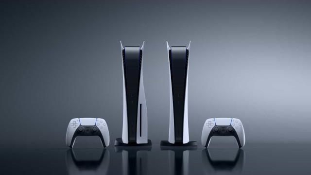PlayStation 5. As imagens das duas versões da consola de nova geração