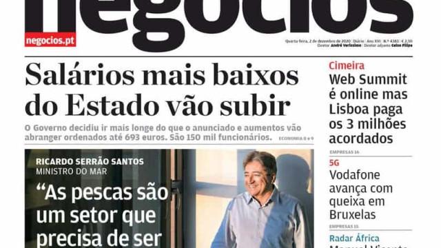 Hoje é notícia: Costa proíbe festas; Salários mais baixos vão subir