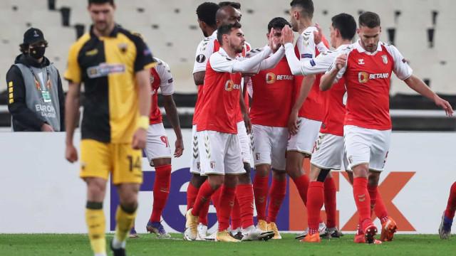 Sp. Braga vence na Grécia e apura-se para os '16-avos' da Liga Europa