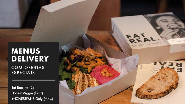 Honest Greens tem takeaway e delivey com menus especiais. Não perca!