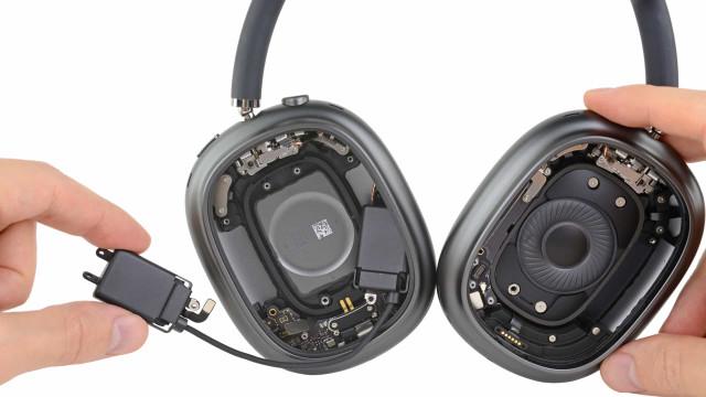 AirPods Max. Veja os novos headphones da Apple a serem desmontados