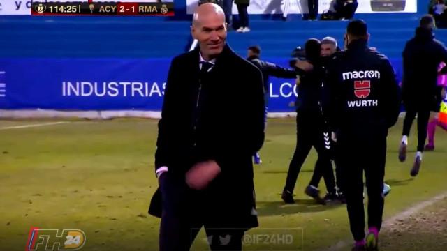 Real Madrid sofreu o golo da eliminação e a reação de Zidane diz tudo