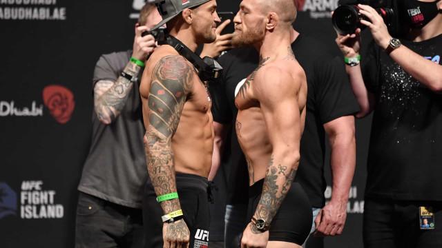 McGregor e Poirier: O confronto antes do combate com direito a... picante