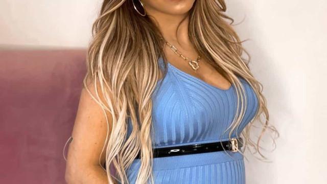 Joana Longoria do 'Secret Story' exibe enorme barriguinha de grávida