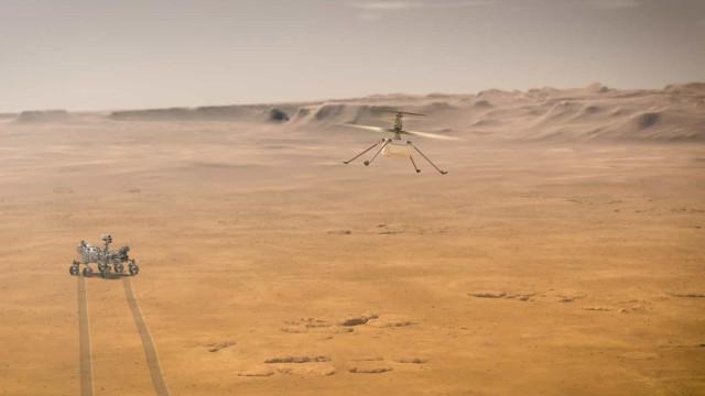 NASA revela como é ouvir helicóptero de Marte a levantar voo