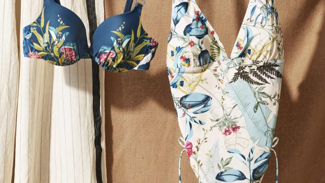 Descubra a nova coleção de praia da Triumph com inspiração botânica
