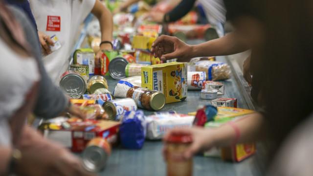 """Banco Alimentar recolheu """"1.605 toneladas de alimentos"""" no fim de semana"""