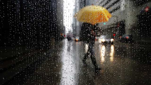 Chuva coloca 6 distritos sob aviso amarelo. É esperada trovoada e granizo