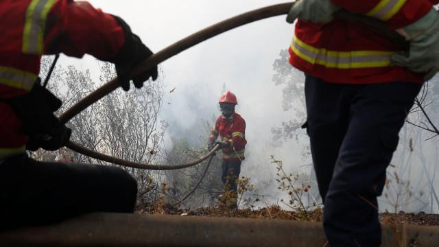 Cerca de 200 bombeiros combatem fogo em Vila Real