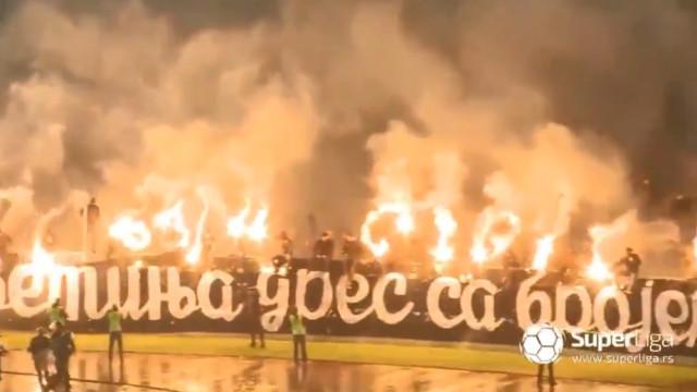 Arrepiante: Assim se despediram os adeptos do capitão do Partizan