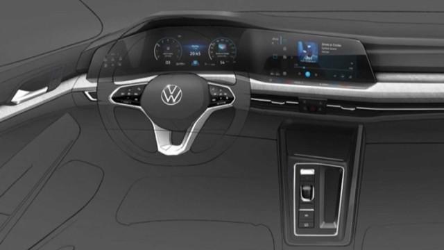Botões? Diga-lhes adeus no interior do novo Volkswagen Golf
