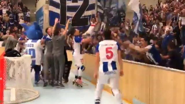 FC Porto sagra-se campeão nacional de hóquei e o Dragão Caixa reage assim