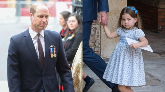 A ternurenta alcunha com que William trata a filha Charlotte