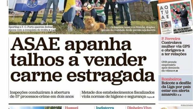 Hoje é notícia: Talhos com carne estragada; CGD dá milhões a Isabel