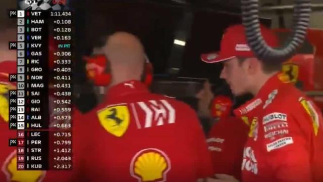 GP do Mónaco: Leclerc não disfarçou a irritação na box da Ferrari