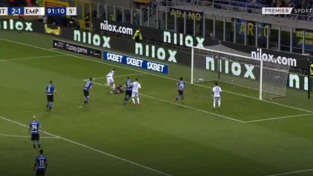 A defesa de Handanovic que garantiu a presença na Champions ao Inter