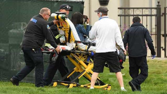 Momentos de pânico nos EUA: Carro de golfe atropela cinco pessoas