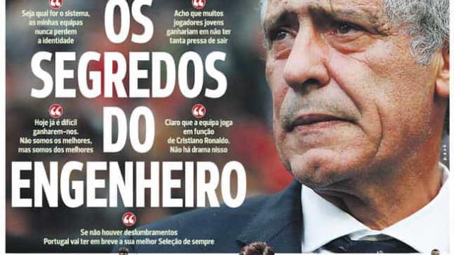 Imprensa nacional: Fernando Santos e Samaris 'abrem o livro'