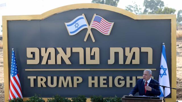 Netanyahu inaugura nos Montes Golã colonato batizado em honra de Trump