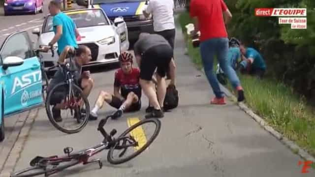 Após Froome, queda aparatosa deixa campeão em risco para o Tour