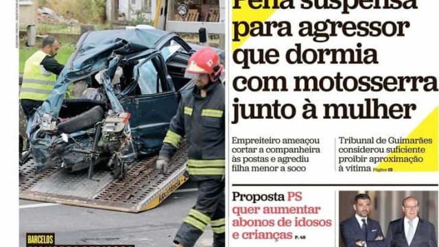Hoje é notícia: Agressor dormia com motoserra; Professor 'caça' crianças