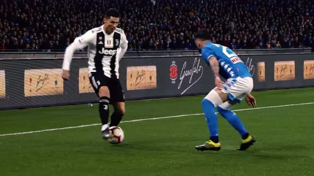 Juventus reúne o melhor de CR7 em 2 minutos desconcertantes