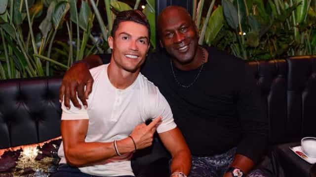 """Cristiano Ronaldo encontrou-se com Michael Jordan: """"Fizemos história"""""""