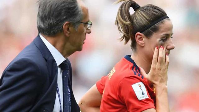 Jogadora espanhola ficou com olho 'desfeito' e teve de sair