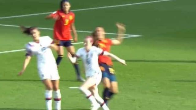 Mundial feminino: Eis o polémico penálti que eliminou Espanha