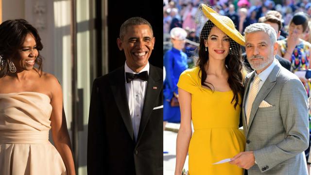 Saída de casais! Barack e Michelle Obama com George e Amal Clooney