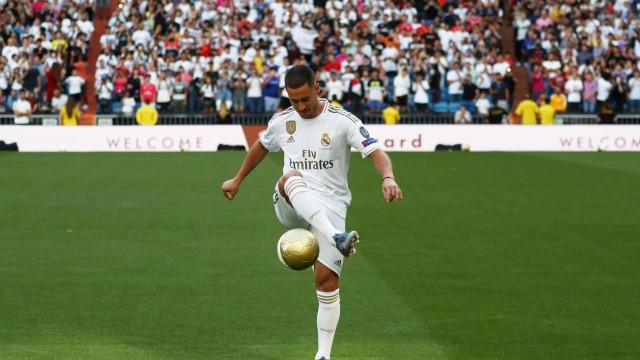 Os 30 segundos que explicam o que Hazard já fez no Real Madrid