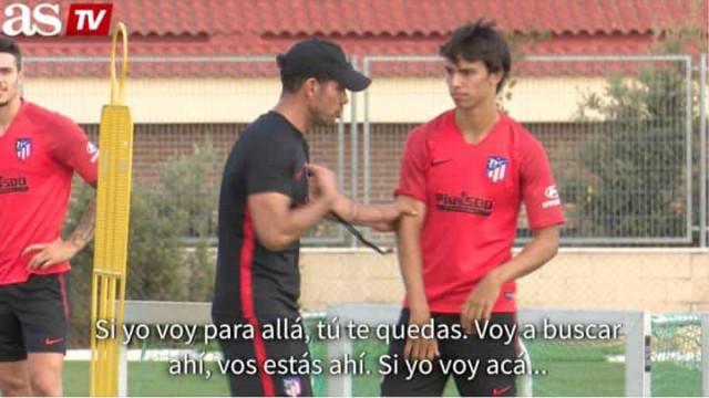 João Félix alvo de lição (defensiva) de Diego Simeone